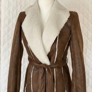 Kenneth Cole faux shearling coat